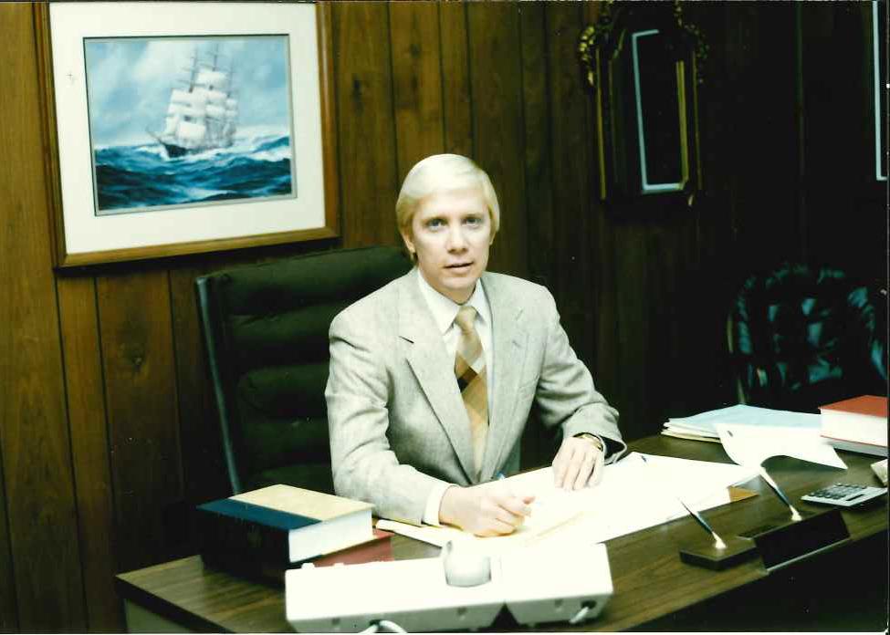 Young John at Desk